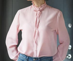 etsy, ruffle blouse, and long sleeves blouse image