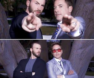 Avengers, tony stark, and steve rogers image