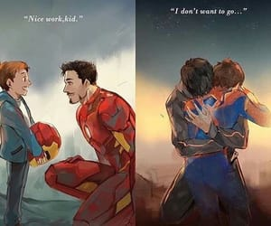 Marvel, iron man, and spiderman image