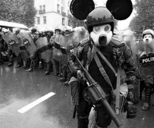 black and white and police image