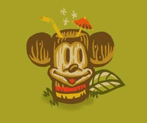 disney, tiki, and mickey mouse image