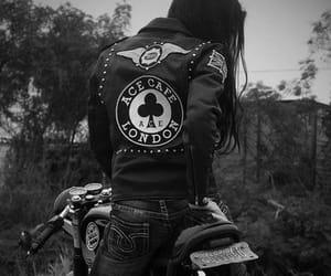 girl, motorcycle, and bike image