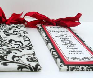 black, damask, and favors image