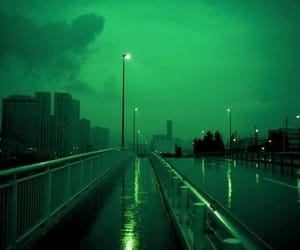 green, blue, and city image