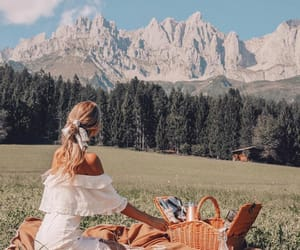 mountains and picnic image