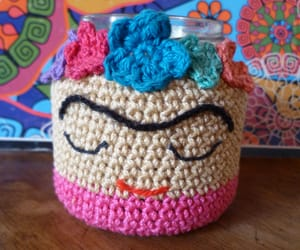 crochet, deco, and fridakahlo image
