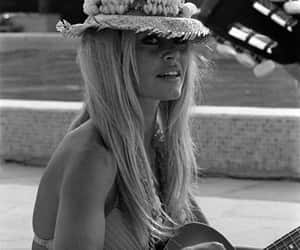 black and white, hat, and brigitte bardot image