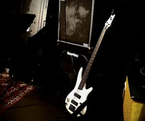 bass guitar and old school music image