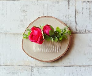 etsy, wedding hair comb, and rustic hair comb image