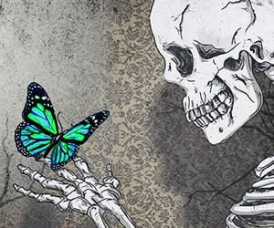 art, fantasy, and butterfly image