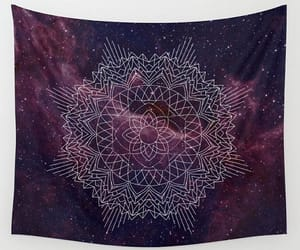 burgundy, wall tapestry, and mandala tapestry image