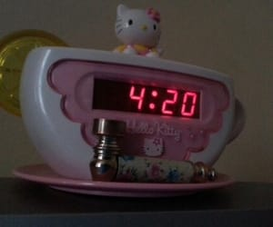 hello kitty, 420, and aesthetic image