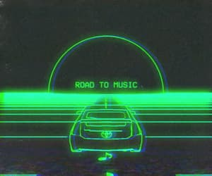 green, aesthetic, and car image