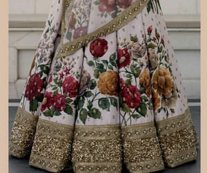 fashion, floral design, and indian wear image