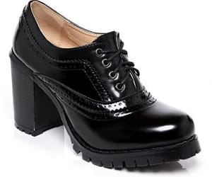 black boots, boots, and brogue boots image