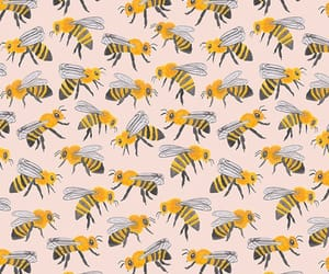 bee, pattern, and wallpaper image