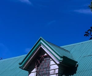 aesthetic, blue, and roof image