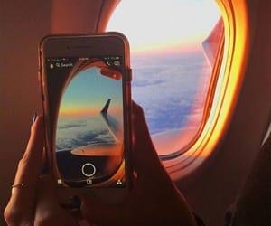 travel, plane, and sky image