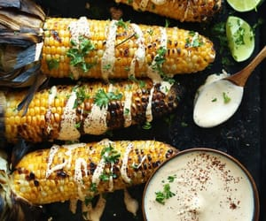 food, corn, and delicious image