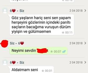 heartbreak, türkçe sözler, and whatsapp mesajları image