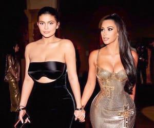 kylie jenner, kim kardashian, and met gala image