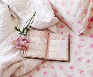 bed, flower, and home image