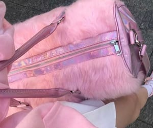 bag, pretty, and faux fur image