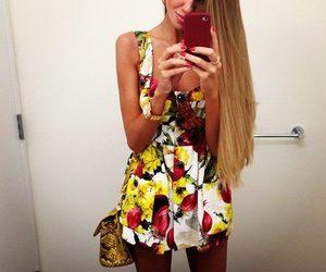 blonde, fashion, and dress image