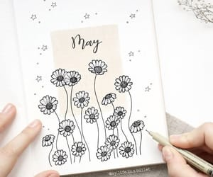 creative, drawings, and flowers image