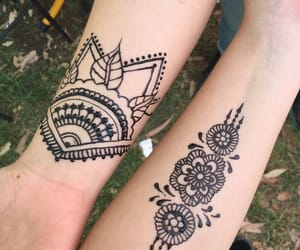 black, henna, and summer image