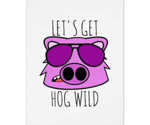 animals, greeting cards, and pigs image