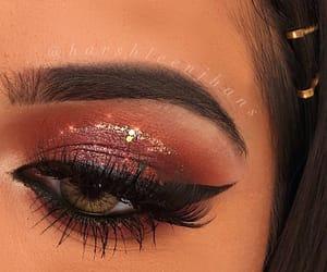 beauty, bling, and eye makeup image