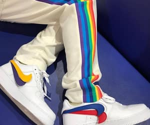 rainbow, nike, and fashion image