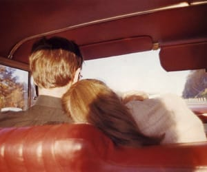 couple, car, and vintage image