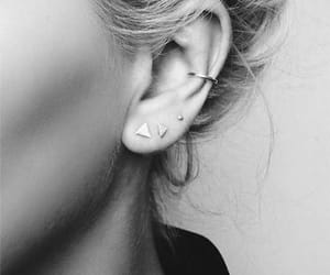 earring, piercing, and girl image