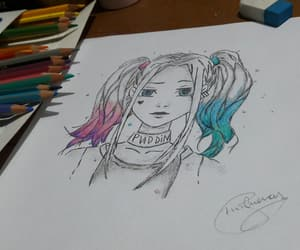 draw, harleyquinn, and suicidesquad image