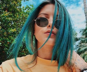 girl, model, and blue hair image