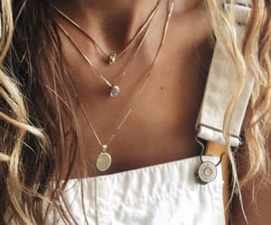 chokers, necklaces, and overalls image