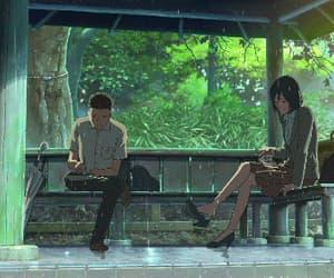 gif, kotonoha no niwa, and makoto shinkai image