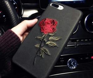 black, case, and rose image