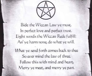 wicca, rede, and witchcraft image
