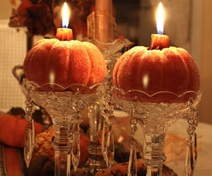 autumn, orange, and candle image