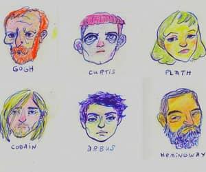 kurt cobain, art, and artist image