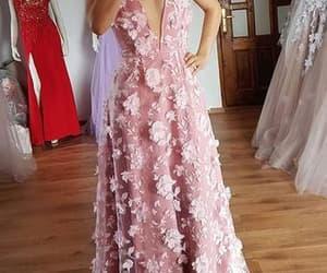 dress, prom dress, and runway dress image