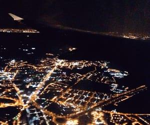 city, flight, and light image