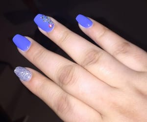 blue nails, sparkles, and cute nails image
