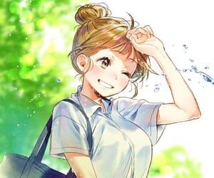 anime, anime girl, and school girl image
