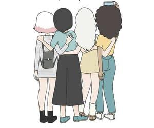 amigas, chicas, and dibujos image