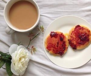 food, flowers, and coffee image