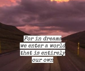Dream, quote, and road image